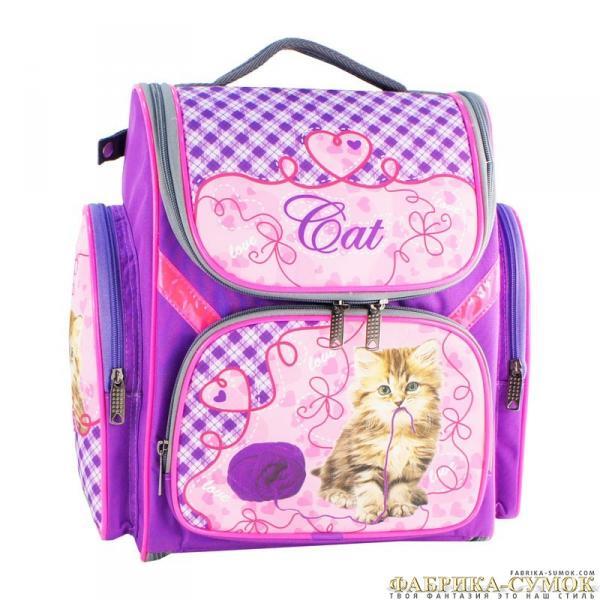 Рюкзак арт.Bagberry-902 №06 Кошка с клубком (цв. фиолетовый)