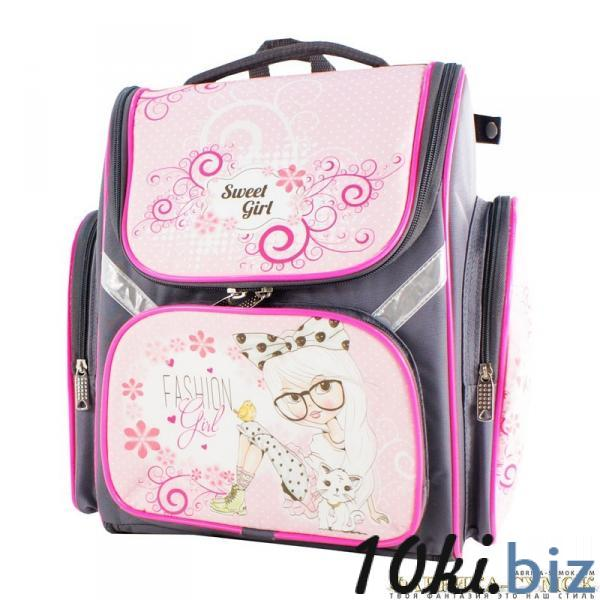 Рюкзак арт.Bagberry-902 №19 Девочка с цветами (цв. серый) Школьные рюкзаки и портфели в Москве