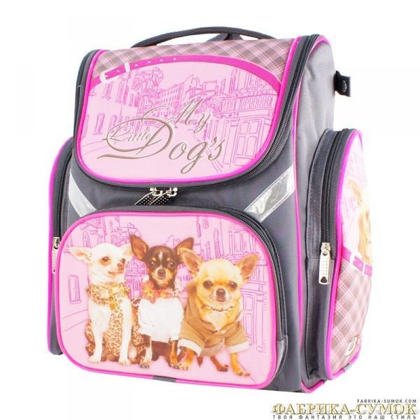 Рюкзак арт.Bagberry-902 №25 Три собаки (цв. серый)