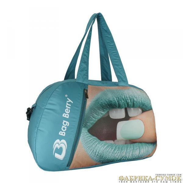Спортивная сумка Bag Berry-NG-01 08-275 Губы на бирюзе