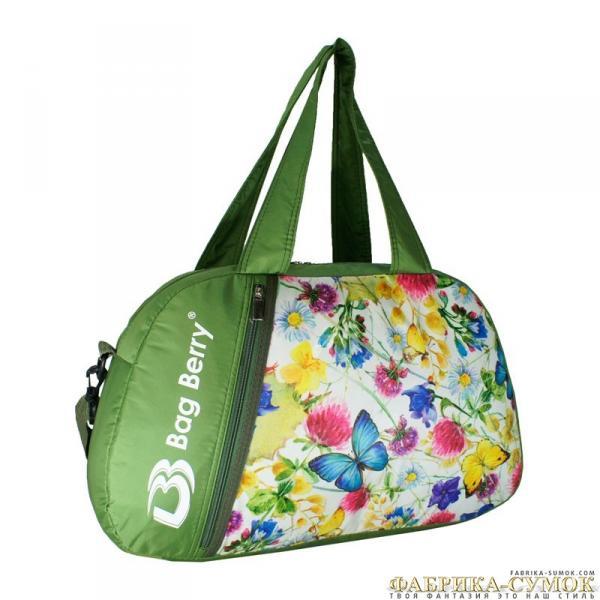 Спортивная сумка Bag Berry-NG-01 10-268 Бабочки в цветах