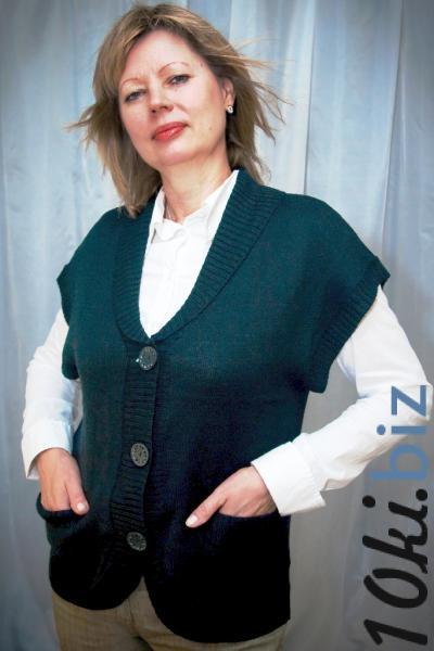 GBE-040 Трикотажный жилет шалька воротник на пуговицах Жилеты и безрукавки женские в Москве