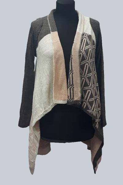 Модель 2188 - Великолепный , модный кардиган со свободно струящимися полочками