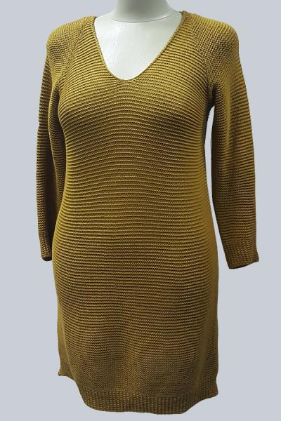 Модель 6315 - Модное вязаное платье - туника