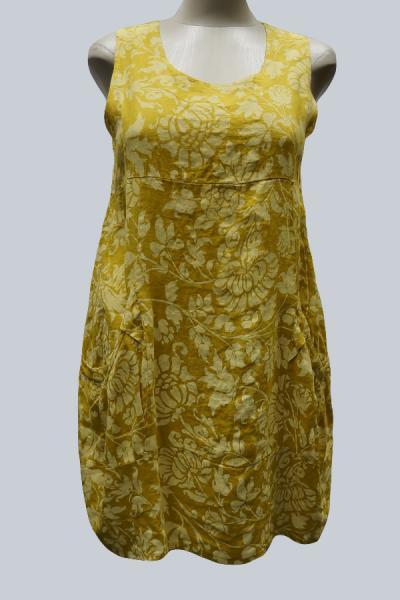 Модель 3240 - Модный льняной сарафан с карманами