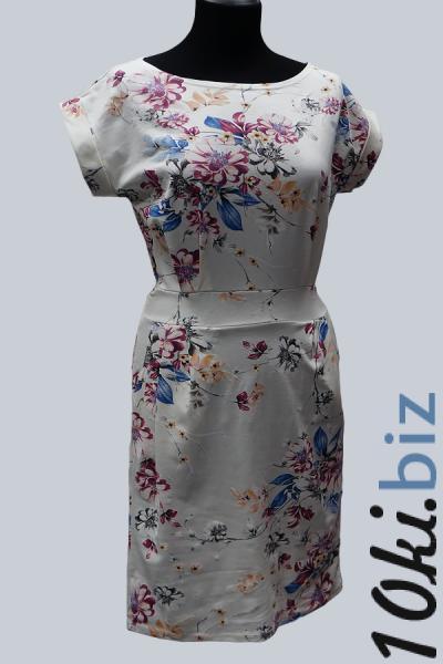 Модель 6648 - Платье с поясом и с модным цветочным принтом Платья-рубашки в БП Румянцево