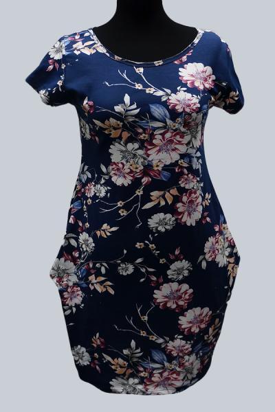 Модель 6711 - Модное платье с цветочным принтом