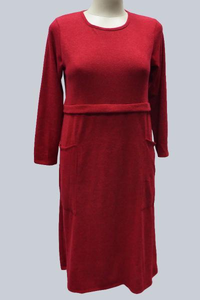 Модель 9157 - Модное платье с карманами и кокеткой по грудью
