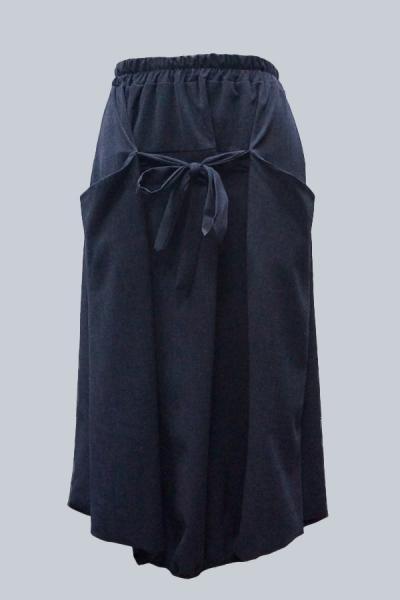 Модель 3050 - Модная юбка свободного кроя на резинке и с карманами
