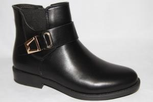 Фото Демисезонная обувь, Демисезонная обувь девочки до 38 Ботинки 7325-А черный