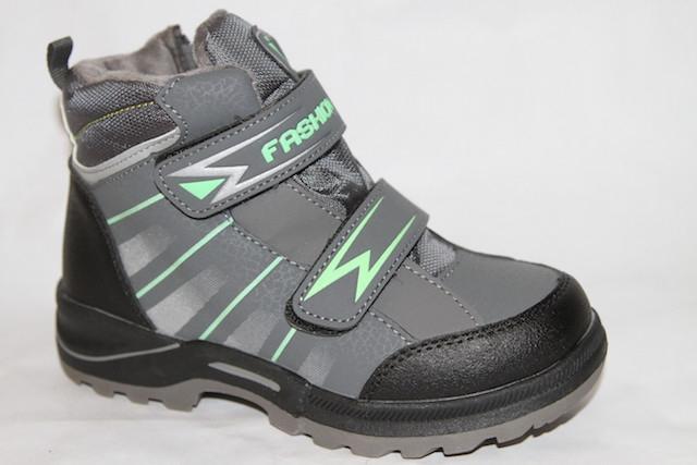Ботинки NS-9311 серый/зеленый