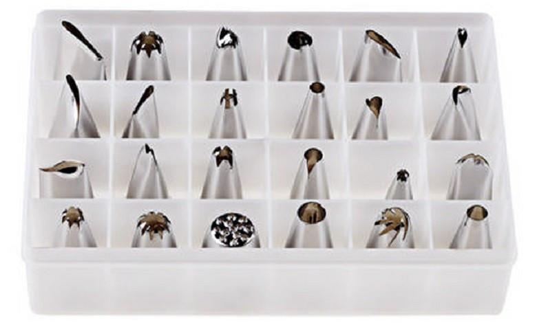 Фото Насадки кондитерские и шприцы, Наборы кондитерских насадок Набор кондитерских насадок для крема из 24 штук