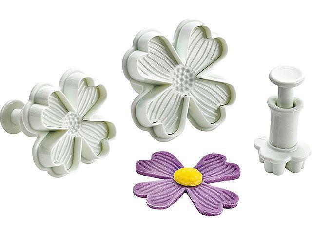 """Плунжер для мастики """"Незабудки цветы"""" набор из 3 форм"""