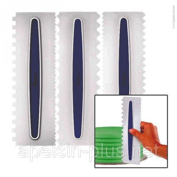 Фото Кондитерские инструменты и аксессуары, Ножи,лопатки,шпателя кондитерские Набор кондитерских фигурных шпателей -гребешков