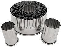 """Вырубки металлические """"Кольца рифленые"""" набор из 12 форм"""
