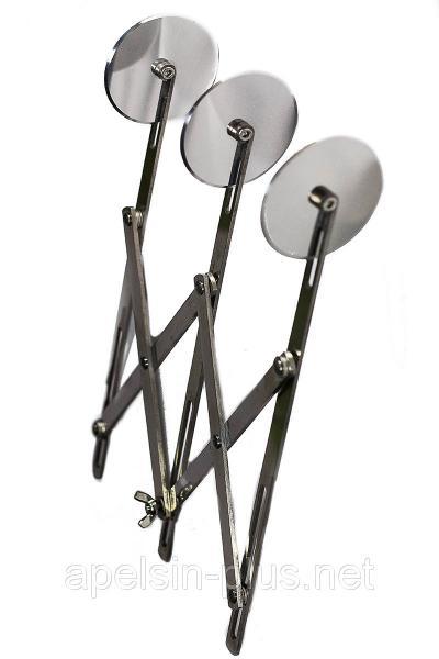 Фото Кондитерские инструменты и аксессуары, Ролики кондитерские Кондитерский раздвижной дисковый нож на 3 гладких ролика