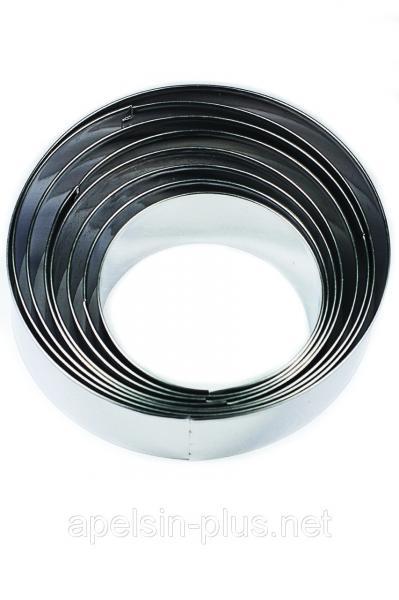 Фото Кондитерские кольца и раздвижные формы для тортов Кондитерские металлические кольца набор 8 штук