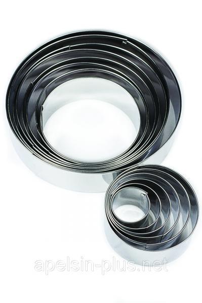 Фото Кондитерские кольца и раздвижные формы для тортов Кондитерские металлические кольца набор 14 штук