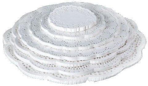 Фото Подложки,коробки,салфетки и бумажные формы для тортов,кексов и пряников Кондитерские ажурные салфетки 10 см (набор 100 штук)