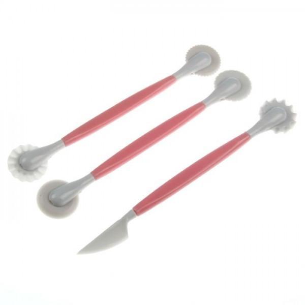 Фото Инструменты для мастики Ролики фигурные двухсторонние для работы с мастикой