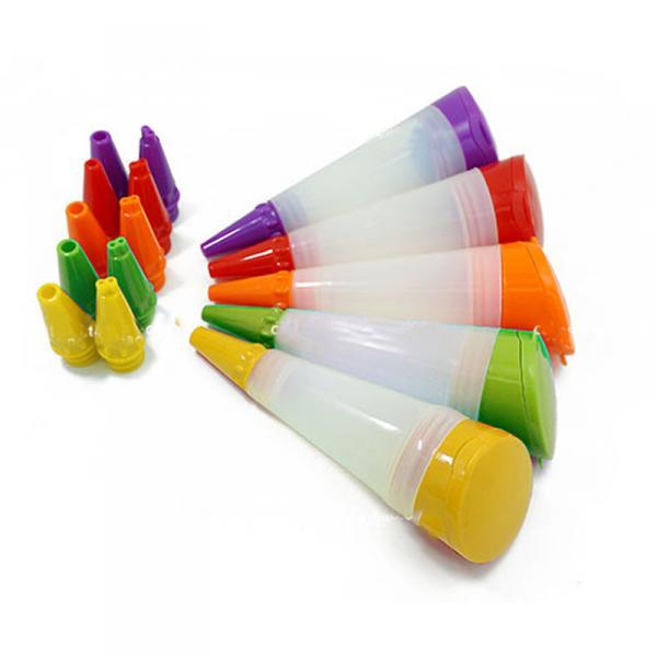 Фото Насадки кондитерские и шприцы, Наборы кондитерских насадок Шприц силиконовый для декора с 3 сменными насадками