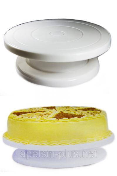 Фото Кондитерские инструменты и аксессуары, Поворотные столы для торта и подставки Столик поворотный кондитерский 28 см 6 см
