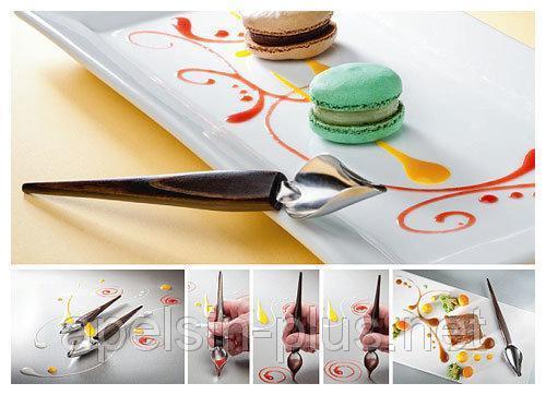 Фото Кондитерские инструменты и аксессуары, Инструменты для декорирования и карвинга Ложка-перо для декорирования большая