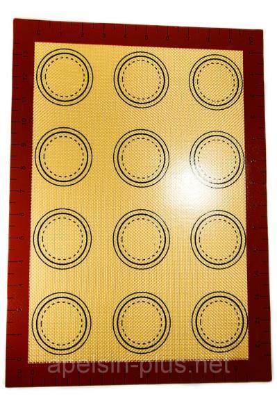 Фото Коврики силиконовые Армированный силиконовый коврик термоволокно 30 см 40 см для макаронс