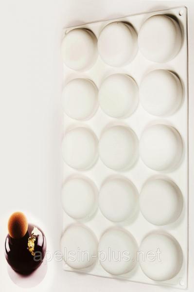 Силиконовая форма для евродесертов Globe на 15 десертов