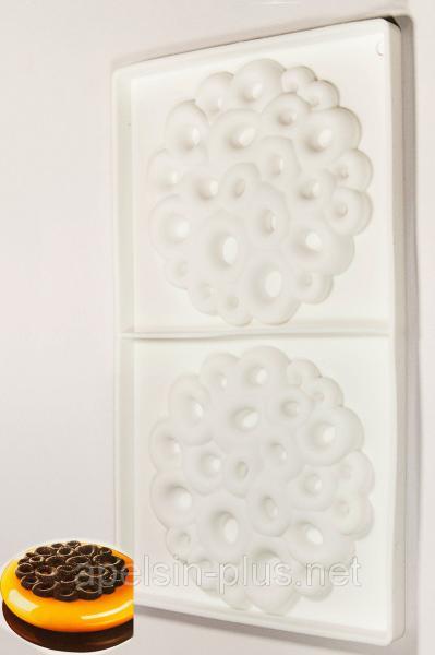Фото Силиконовые формы для выпечки, Силиконовые формы для евродесертов Силиконовая форма для декора муссовых тортов Coral 90 мл