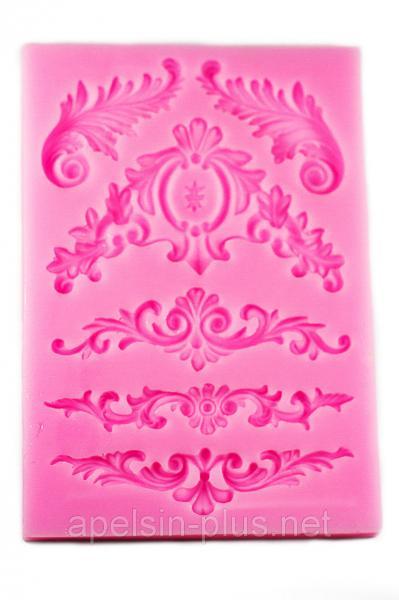 """Молд силиконовый для декора """"Барокко"""" 12,5 см 8,7 см"""
