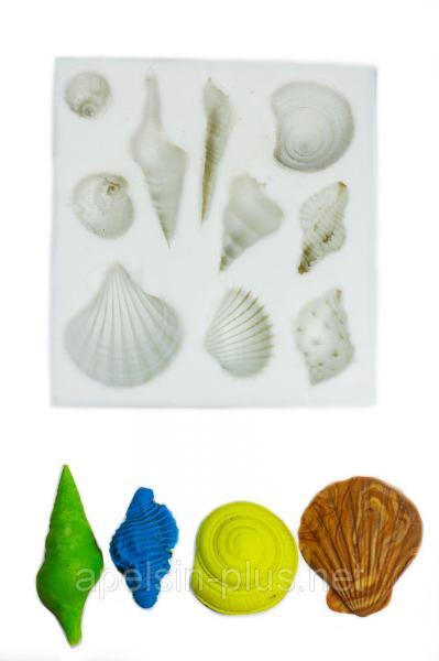 """Молд силиконовый """"Морские ракушки"""" 7,6 см  8,1 см"""