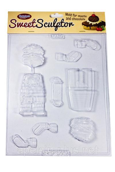 """Молд пластиковый для шоколада """"Ниндзяго"""" 3D"""