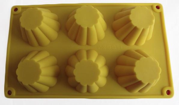 Фото Силиконовые формы для выпечки, Формы на планшете Силиконовая форма для выпечки Кексы высокие на 6 ячеек
