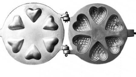 Фото Формы для выпечки орешков и вафель Форма для выпечки печенья под начинку
