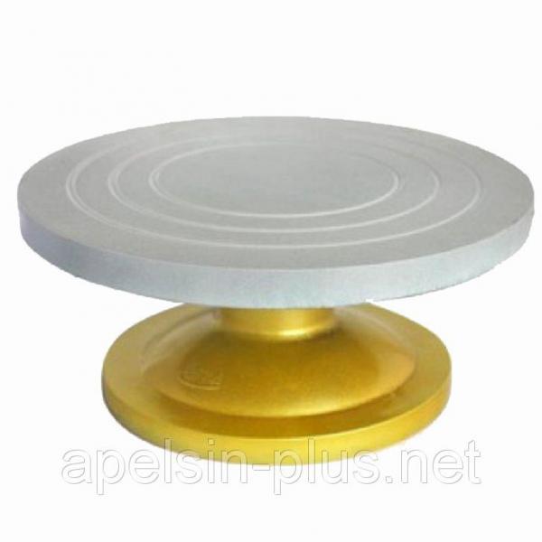 Столик поворотный кондитерский металлический из усиленного пластика 30 см