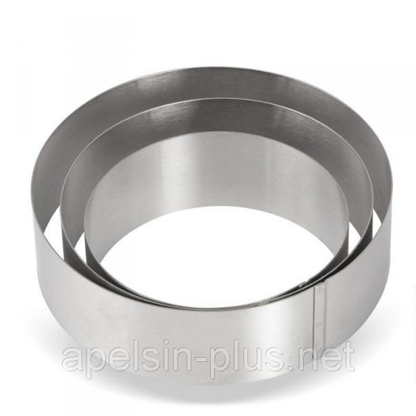 Фото Кондитерские кольца и раздвижные формы для тортов Кондитерское кольцо 22 см высота 6 см нержавеющая сталь