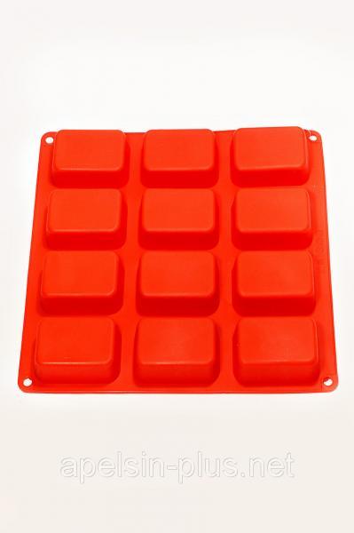 """Силиконовая форма для десертов """"Кубики"""" из 12 штук"""
