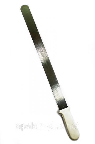 Шпатель кондитерский прямой 39 см (ручка 11,5 см)