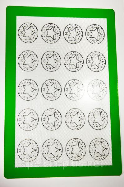 Фото Коврики силиконовые Армированный силиконовый коврик термоволокно 29,5 см 42 см