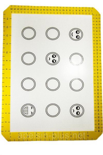 Фото Коврики силиконовые Армированный силиконовый коврик термоволокно 30 см 40 см