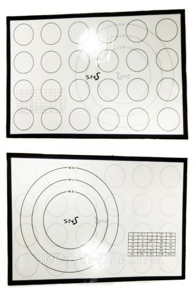 Армированный силиконовый коврик термоволокно 42,5 см 28 см для макаронс