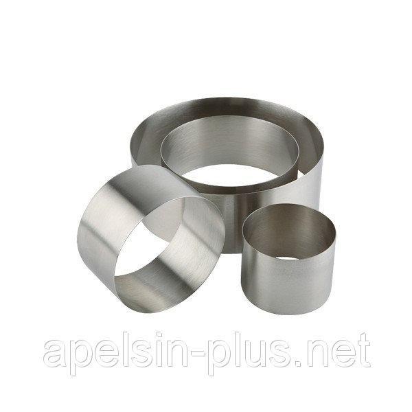 Фото Кондитерские кольца и раздвижные формы для тортов Кондитерское кольцо 22 см высота 8 см нержавеющая сталь