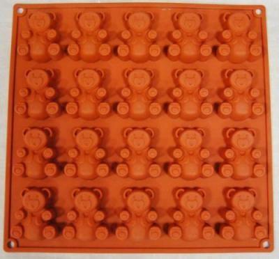 Фото Силиконовые формы для выпечки, Формы на планшете Силиконовая форма для выпечки Мишки Барни на 20 ячеек