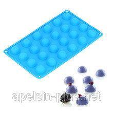 Фото Силиконовые формы для выпечки, Формы на планшете Силиконовая форма для выпечки Полусферы на 24 ячейки