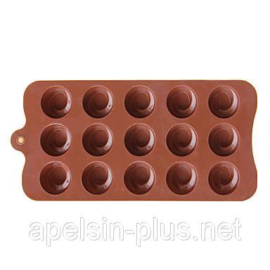"""Силиконовая форма для шоколада """"Шашки"""""""