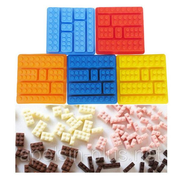 """Силиконовая форма для конфет и льда """"Конструктор Лего"""" мини"""