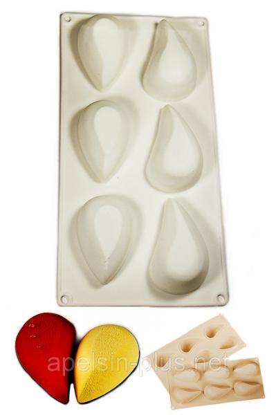 Фото Силиконовые формы для выпечки, Силиконовые формы для евродесертов Силиконовая форма для муссовых десертов Капля 6 ячеек