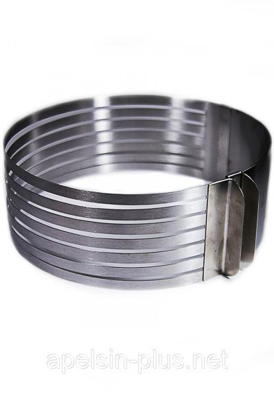 Фото Кондитерские кольца и раздвижные формы для тортов Раздвижное кольцо для нарезания бисквита на 6 коржей от 25 см до 32 см