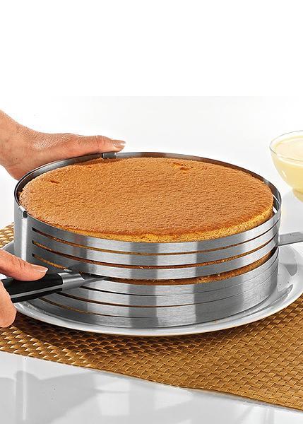 Фото Кондитерские кольца и раздвижные формы для тортов Раздвижное кольцо для нарезания бисквита на 9 коржей от 25 см до 32 см